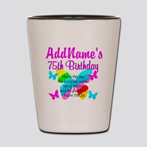 75TH BUTTERFLY Shot Glass