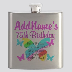 75TH BUTTERFLY Flask