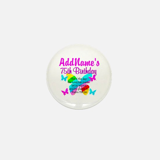 75TH BUTTERFLY Mini Button