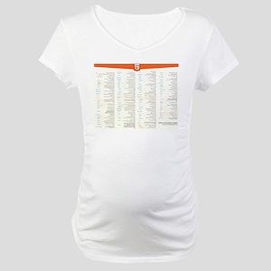 HTML5 Cheat Sheet Maternity T-Shirt