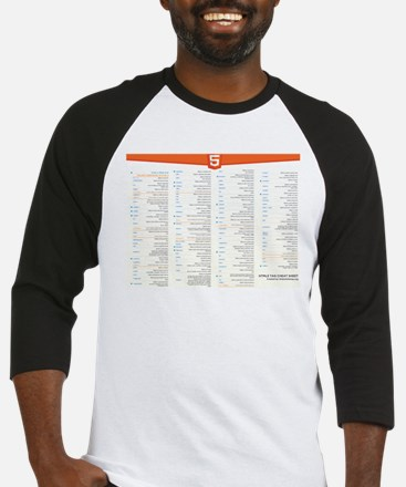 HTML5 Cheat Sheet Baseball Jersey