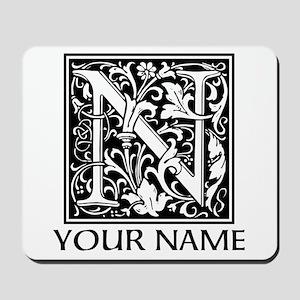 Custom Decorative Letter N Mousepad