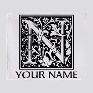 Custom Decorative Letter N Throw Blanket