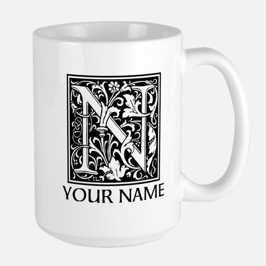 Custom Decorative Letter N Mugs