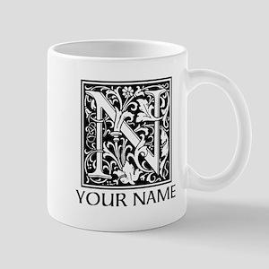 Custom Decorative Letter N Mugs