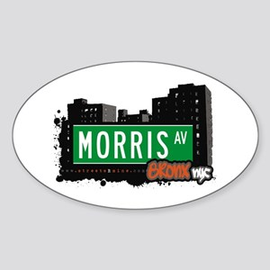 Morris Av, Bronx, NYC Oval Sticker
