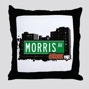 Morris Av, Bronx, NYC Throw Pillow