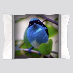 Blue Bird Watching Pillow Case