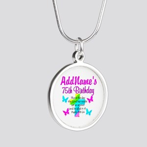 75TH CHRISTIAN Silver Round Necklace