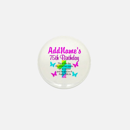 75TH CHRISTIAN Mini Button