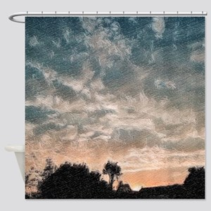 fractal evening Shower Curtain