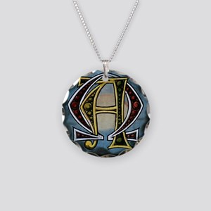 AlphaOmega Necklace Circle Charm