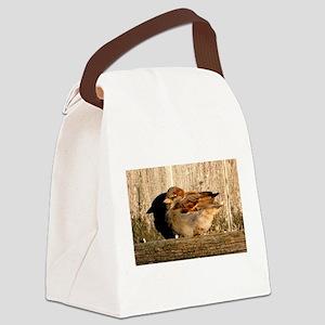 Sleepy Sparrow Canvas Lunch Bag