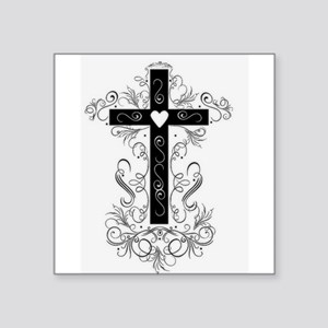 Flourish Cross Sticker