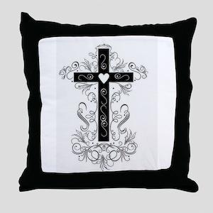 Flourish Cross Throw Pillow