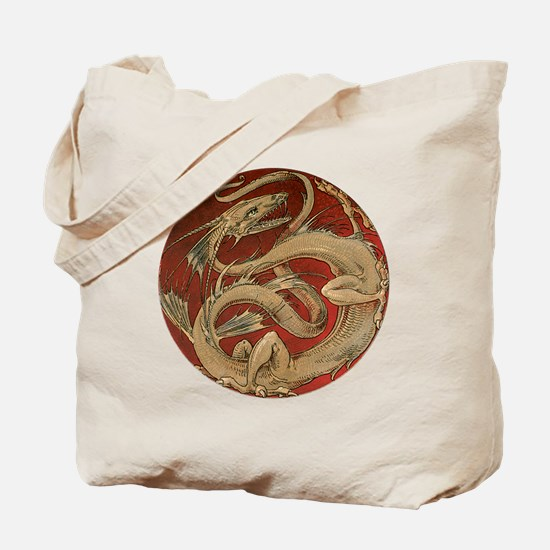 Vintage Dragon Tote Bag