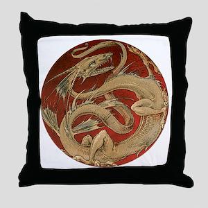 Vintage Dragon Throw Pillow