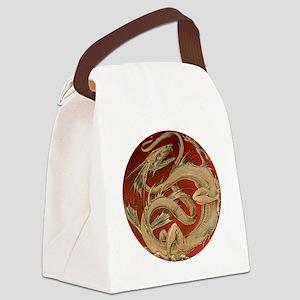Vintage Dragon Canvas Lunch Bag