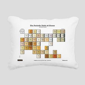 50 Cheese Periodic Table Rectangular Canvas Pillow