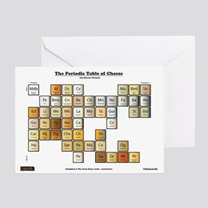 Periodic table greeting cards cafepress 50 cheese periodic table greeting card urtaz Gallery