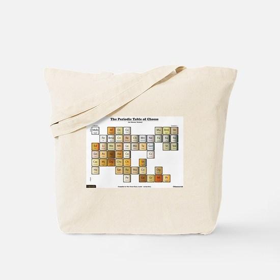 50 Cheese Periodic Table Tote Bag