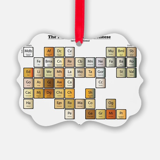 50 Cheese Periodic Table Ornament