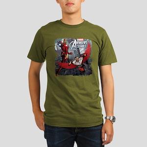 Falcon and Iron Man Organic Men's T-Shirt (dark)