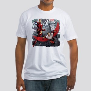 Falcon and Iron Man Fitted T-Shirt