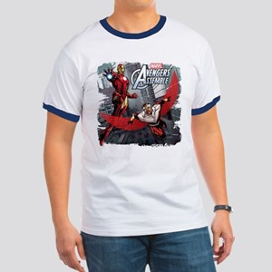 Falcon and Iron Man Ringer T