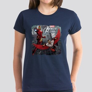 Falcon and Iron Man Women's Dark T-Shirt