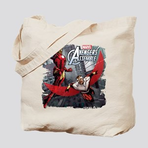 Falcon and Iron Man Tote Bag