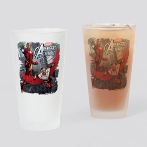 Falcon and Iron Man Drinking Glass