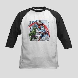 Falcon, Hulk, and Captain Ame Kids Baseball Jersey