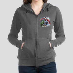 Falcon, Hulk, and Captain Ameri Women's Zip Hoodie