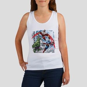 Falcon, Hulk, and Captain America Women's Tank Top