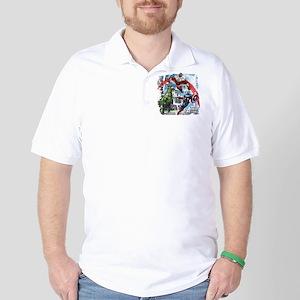 Falcon, Hulk, and Captain America Golf Shirt