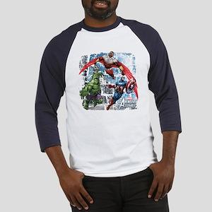 Falcon, Hulk, and Captain America Baseball Jersey