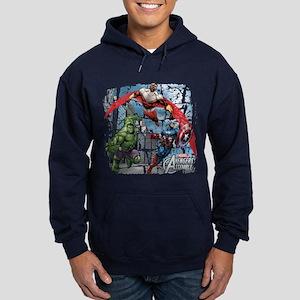 Falcon, Hulk, and Captain America Hoodie (dark)