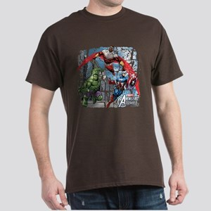 Falcon, Hulk, and Captain America Dark T-Shirt
