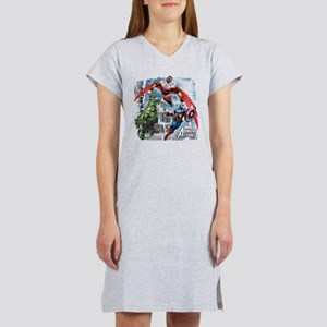 Falcon, Hulk, and Captain Ameri Women's Nightshirt