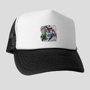 Falcon, Hulk, and Captain America Trucker Hat