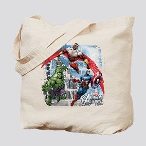 Falcon, Hulk, and Captain America Tote Bag