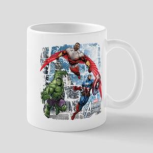 Falcon, Hulk, and Captain America Mug