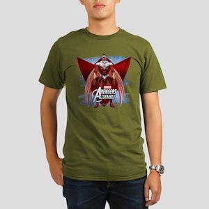 Falcon Wings 2 Organic Men's T-Shirt (dark)