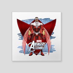 """Falcon Wings 2 Square Sticker 3"""" x 3"""""""