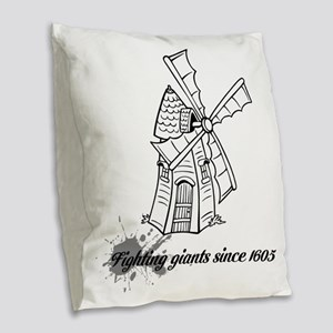 Don Quixote Burlap Throw Pillow