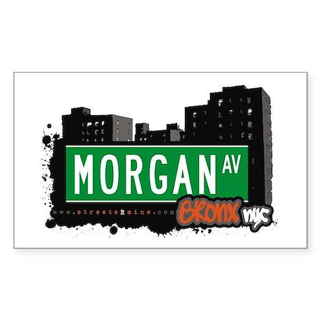 Morgan Av, Bronx, NYC Rectangle Sticker
