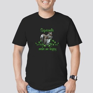 Squirrels Make Me Happ Men's Fitted T-Shirt (dark)
