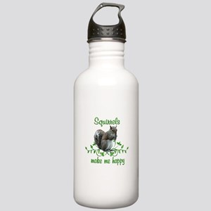 Squirrels Make Me Happ Stainless Water Bottle 1.0L