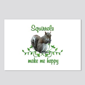 Squirrels Make Me Happy Postcards (Package of 8)